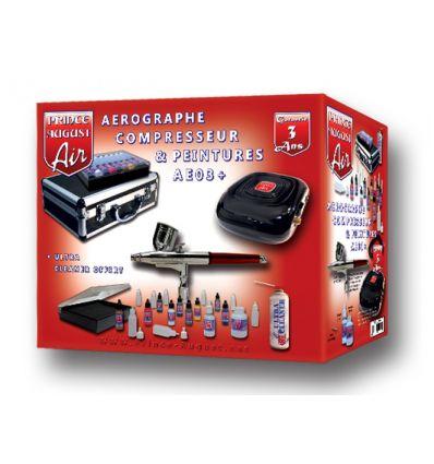 Air Premium Mallette Aérographe Compresseur + Ultra Cleaner